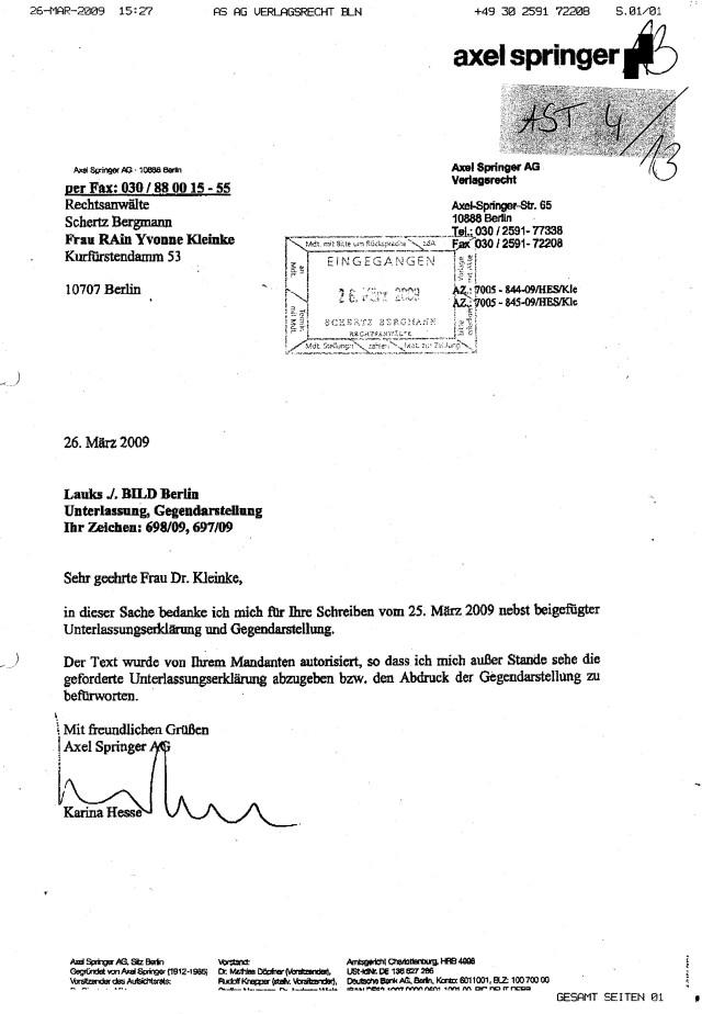 Widerspruch SPRINGER AG (61)