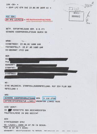 23.1.2018 schickt die BStU diese Kopie dem Landgericht Berlin zu worin der damalige STASI-Scherge vollständig geschützt wird- vor WEMM den nach 33 Jahren?