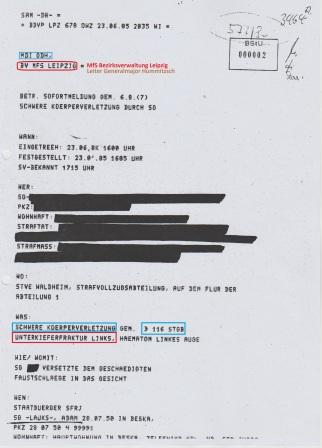 Gauck´s verbrecheriusche Urkundenunterdrückung in Gänze 1994