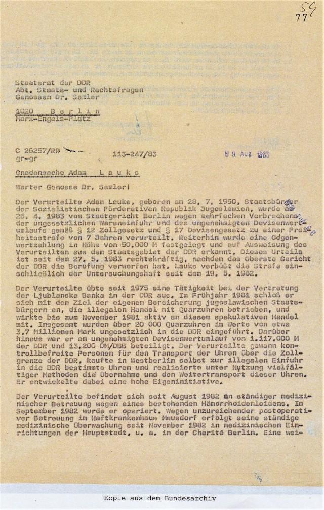 Staatsrat der DDR 09.August 1983
