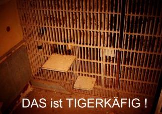 Ein der Tigerkäfige in einer Arrestzelle der StVE Berlin Rummelsburg