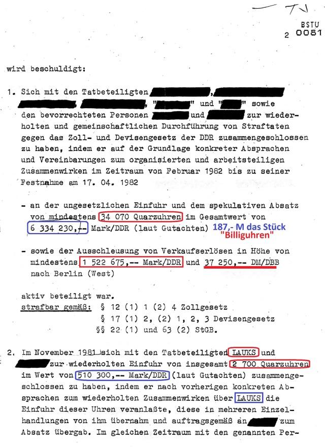 Über diesen Erfolg des MfS habt IHR in der DDR Presse, aber auch im SPIEGEL nichts lesen können. Die sämtliche Akte wanderte noch vor dem Urteil in die gesperrte Ablage des MfS am 9.02.83.