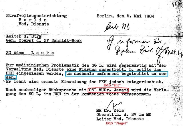 Zwangseinweisung in die Forensik HKH Leipzig Meusdorf