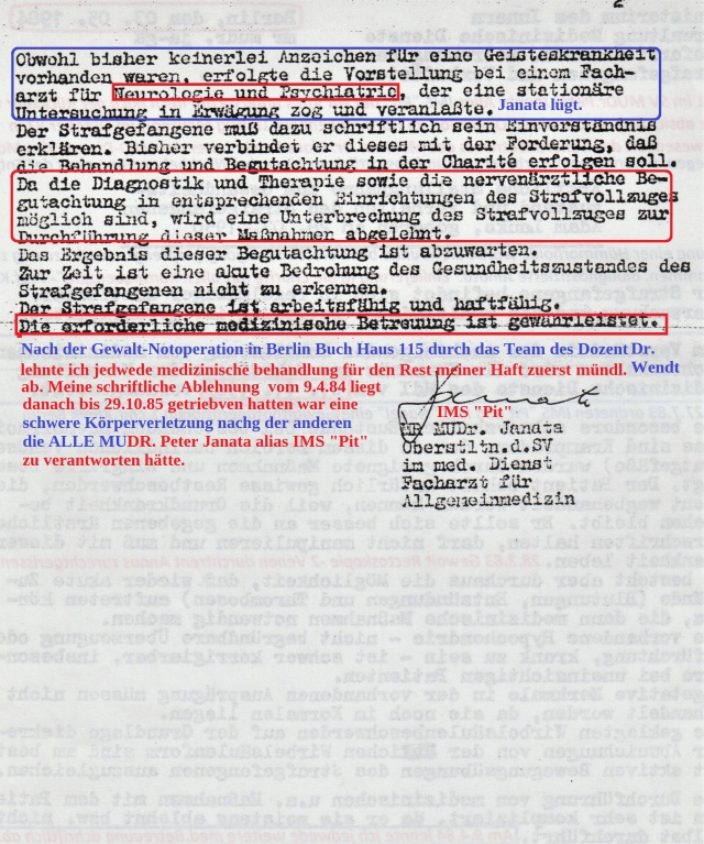Weiße Folter Verschleppung - Isolation - Absonderung